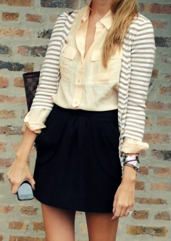 fashion striped sweater