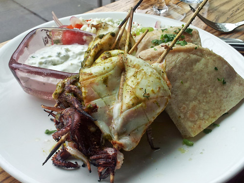 squid kebab