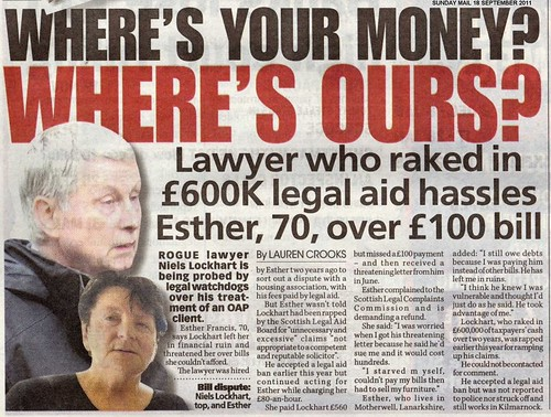 Lawyer 600K legal aid hassles pensioner over 100 bill
