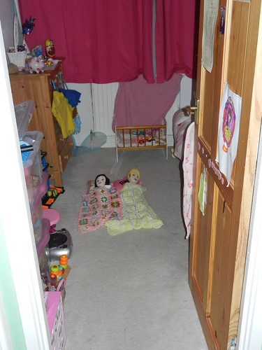 Snow White and Belle asleep in Amber's room