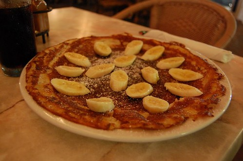 Nutella and banana gluten-free pancake