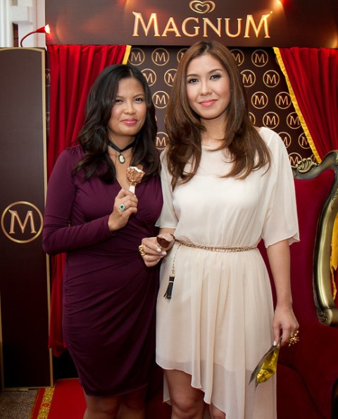Magnum Brand Manager Jean Madrid and Liz Uy