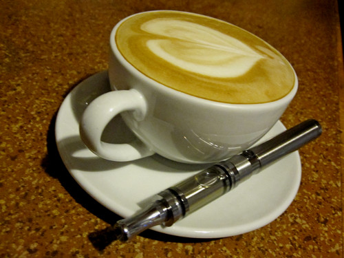 Coffee and An E-cigarette