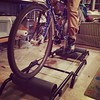 Got a CycleOps Roller Trainer on Craigslist Today. Now I'm riding it in the kitchen, I'm pleased.