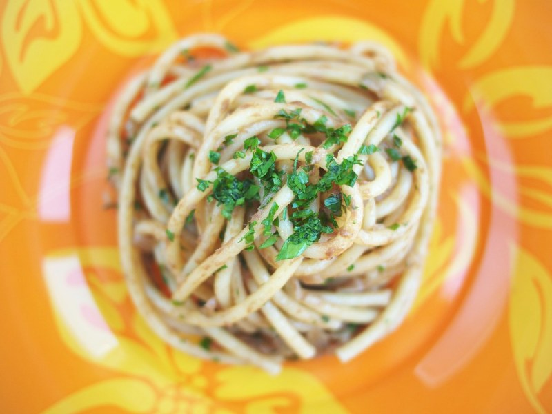 Bucatini in salsa (anchovy sauce)