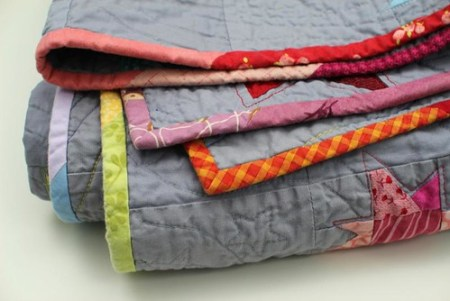 Rainbow Stars quilt - washed