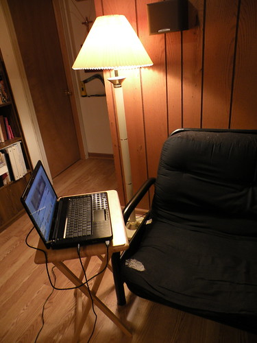 Laptop by the Futon
