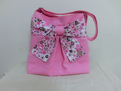 Pretty bow bag in pastel pink