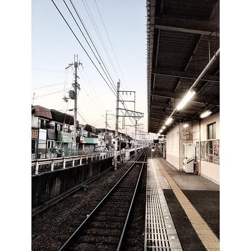 初めて乗る単線の駅…学園前まで。 #iphonography #instagram #iphone4s