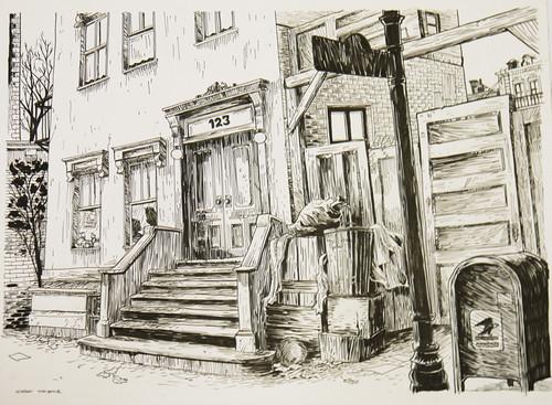 01. Ulica Sezamkowa - szkic