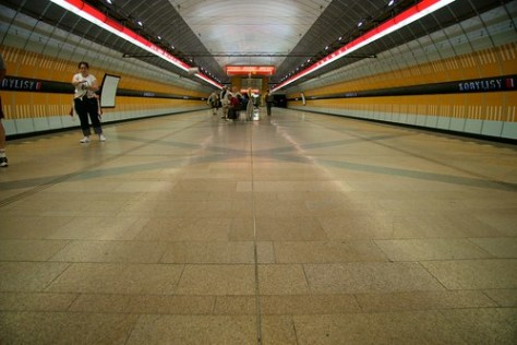 Tube station in Prague