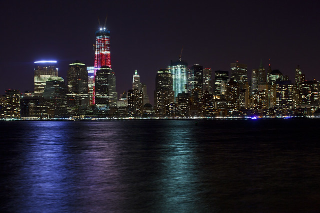One World Trade Center in Red