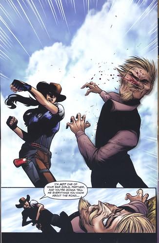 Gail throws a punch