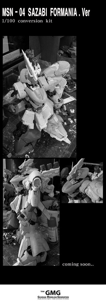 GMG 1-100 Sazabi Formania Version Conversion kit (4)