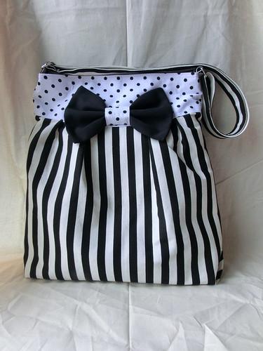 Mya bag in stripy zebra