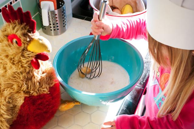 sadie and chickener in kitchen 4