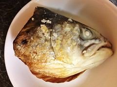 Grilled Salmon Head