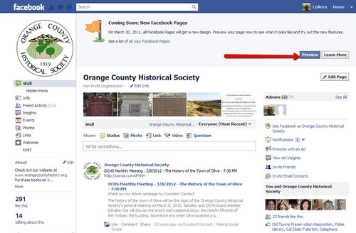 Facebook Pages Timeline - preview
