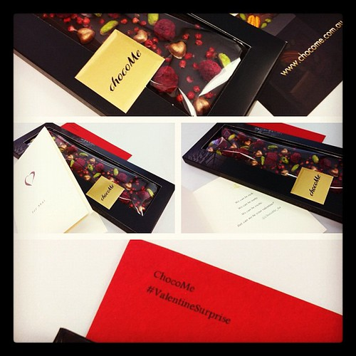 Cool #ValentineSurprise from @ChocoMe_Au . Most interesting artisan chocolate bar. Can't wait to try! :)