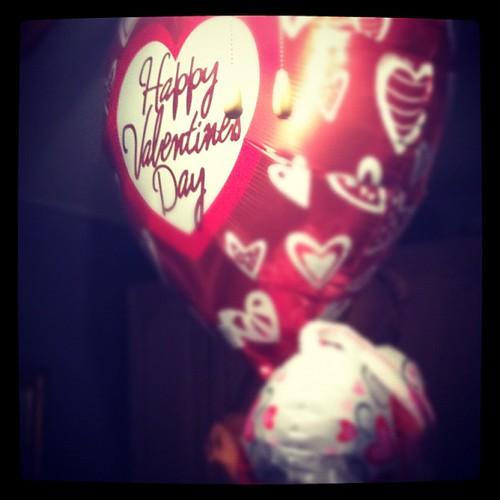Valentines balloons.