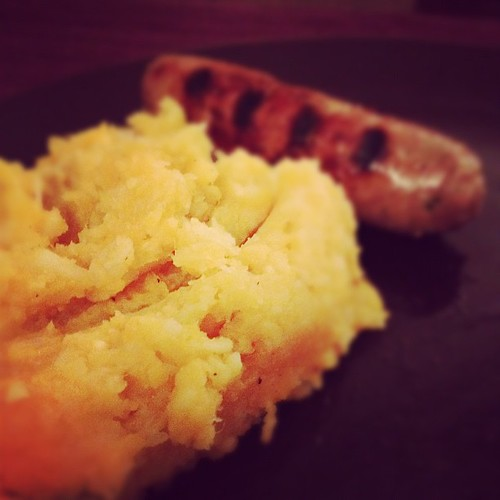 Day 108 of Project 365: Bangers and Mash by cygnoir