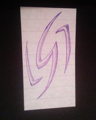 Lightning Bolt Like Symbol Doodle