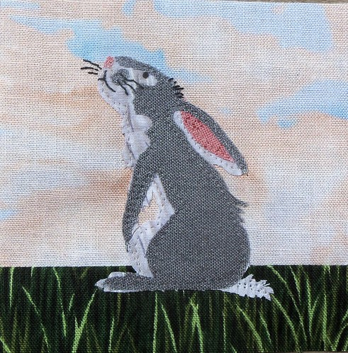 2nd Bitty Bunny Block for Sandy... by ruthiequilts