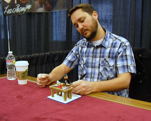Lego model of Wil Wheaton signing a Lego model of Wil Wheaton ...actually being signed by Wil Wheaton!