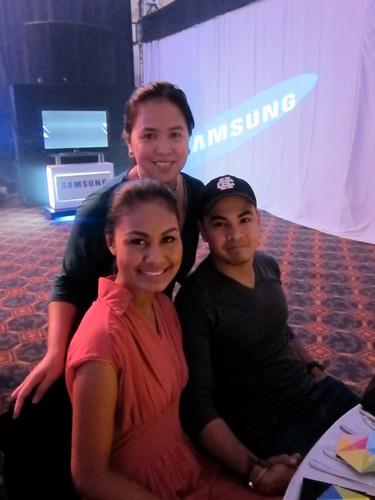 With Venus Raj at Samsung AV Roadshow