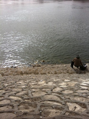 Man fishing in the Nile.