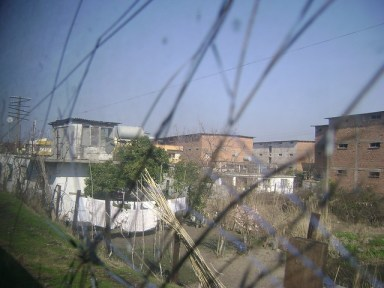 The view from the window of Tirane-Durres train