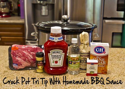 Crock Pot Tri Tip with Homemade BBQ Sauce