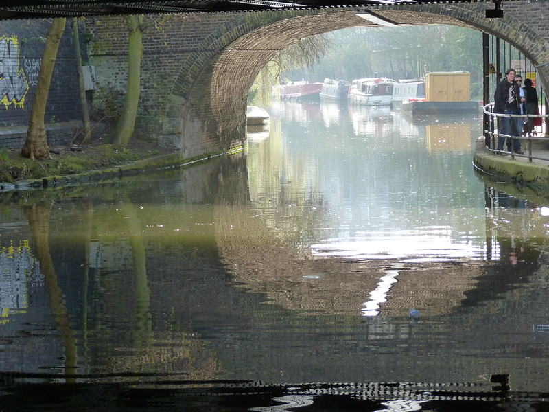 Regent's Canal - bridge reflections