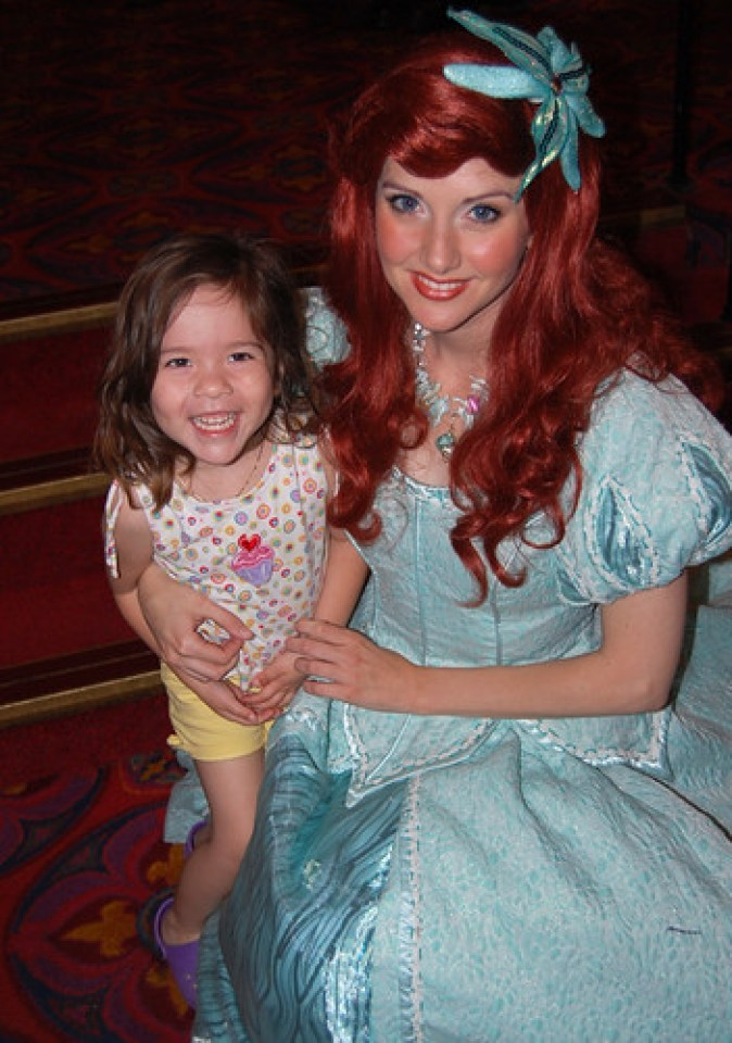 So happy to meet her favorite princess, Ariel!