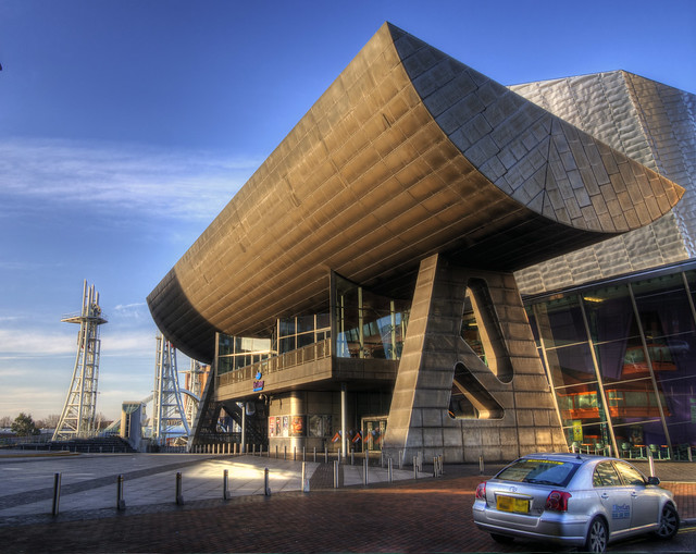 The Lowry Centre in dawn light, Manchester