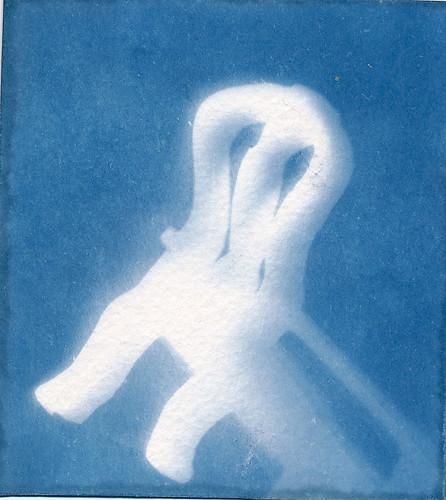 A2 Photography exam work: cyanotypes by Princess Bala Vera