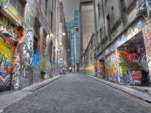 Hosier Lane Panorama 2012-03-03 (_MG_3904_5_6_7_8_9)