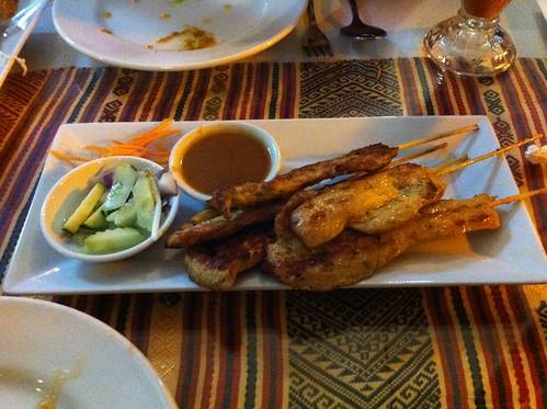 Roberta's Birthday Dinner 2012 006 Chicken Satay