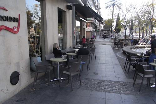 Terraza Cafeteria Roldan Puerta Gallegos Cordoba. Antes.