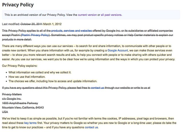 Google S New Privacy Policy Much Ado About Very Little Web