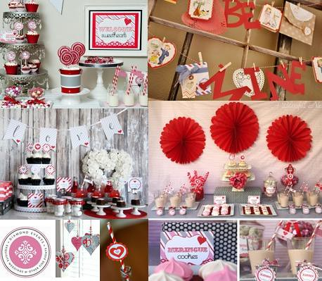 Vintage Valentines Party Dessert Table Decor