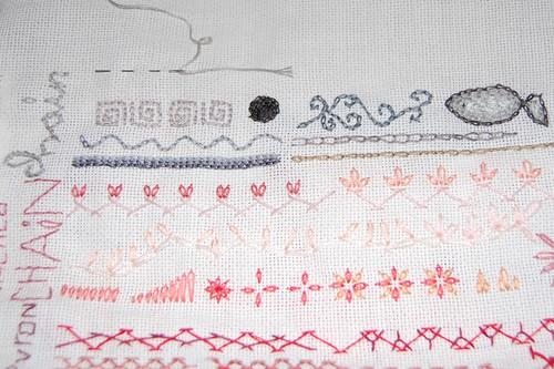 tast 2012 #8: chain stitch