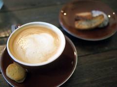 Flat White, Kooka Cafe, Purvis Street