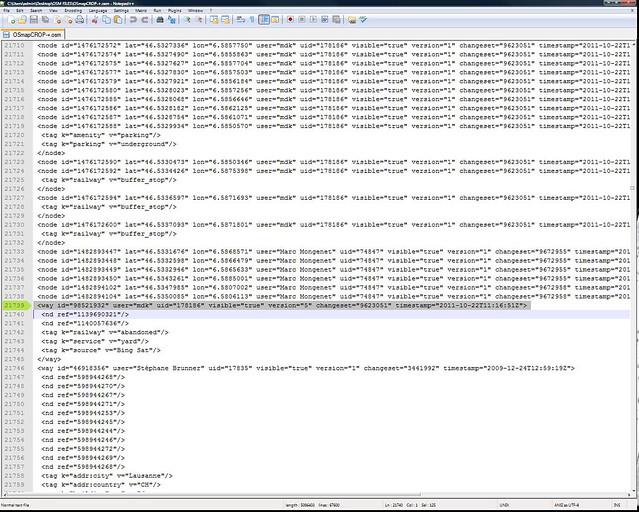 .osm XML file