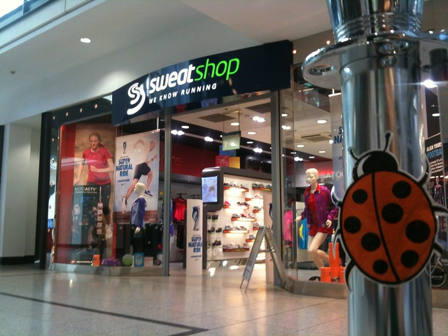 ftt ladybird outside Arndale Sweatshop.