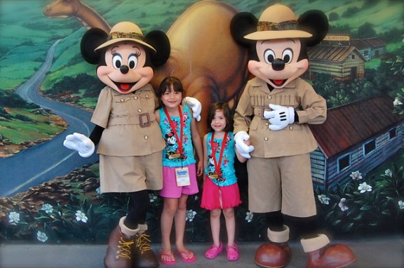 With Mickey & Minnie at Animal Kingdom