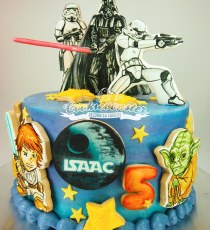 Darth Vader Star Wars cake