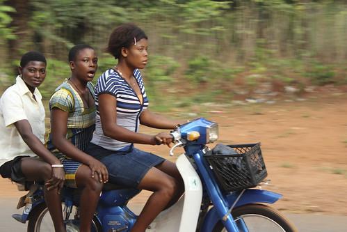 Obolo Village Female Bikers by Jujufilms