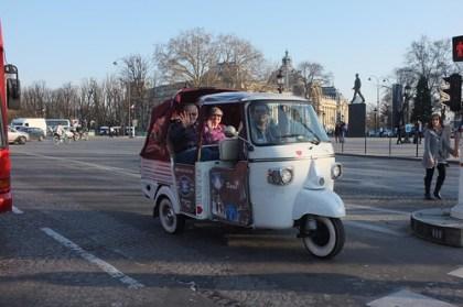 Bajaj at Champs-Élysées!