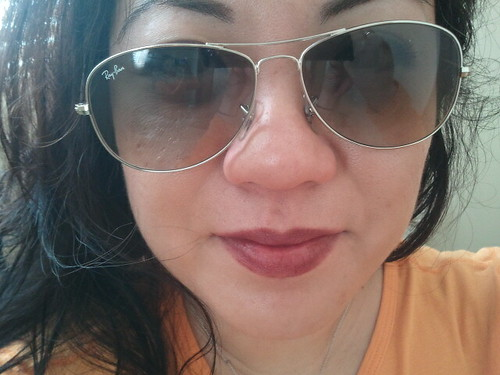 crooked sunglasses...thanks uneven ears!  lol